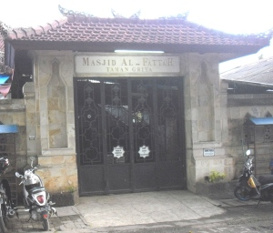 Masjid Al Fattah di jl Danau Bratan kawasan Nusa Dua Bali